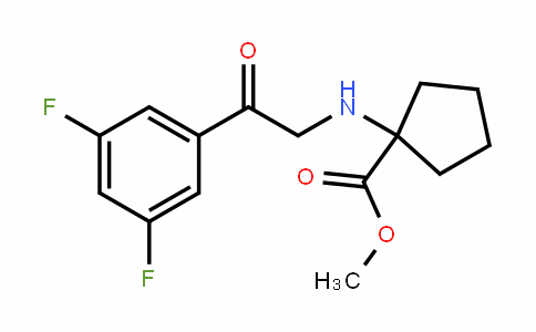 Cyclopentanecarboxylic acid, 1-[[2-(3,5-Difluorophenyl)-2-oxoethyl]amino]-, methyl ester