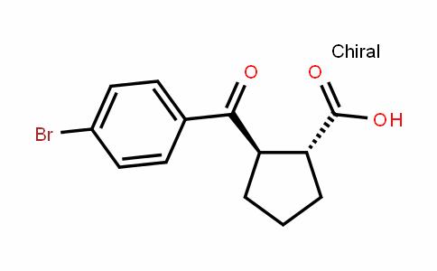 Cyclopentanecarboxylic acid, 2-(4-bromobenzoyl)-, (1R,2R)-