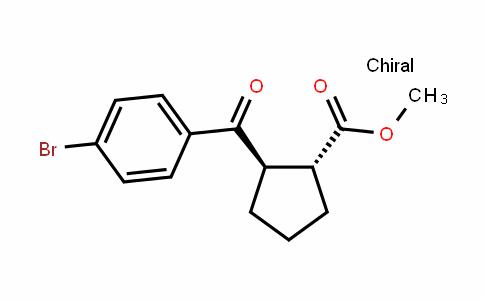 Cyclopentanecarboxylic acid, 2-(4-bromobenzoyl)-, methyl ester, (1R,2R)-