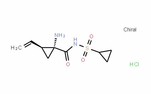 CyclopropanecarboxamiDe, 1-amino-N-(cyclopropylsulfonyl)-2-ethenyl-, hyDrochloriDe (1:1), (1R,2S)-