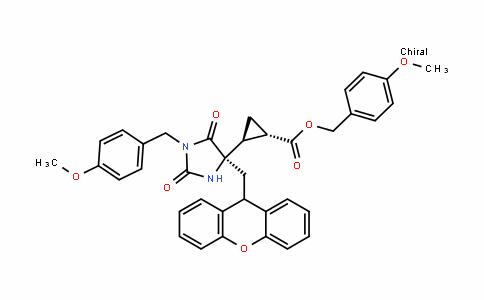 Cyclopropanecarboxylic acid, 2-[(4R)-1-[(4-methoxyphenyl)methyl]-2,5-Dioxo-4-(9H-xanthen-9-ylmethyl)-4-imiDazoliDinyl]-, (4-methoxyphenyl)methyl ester, (1S,2S)-