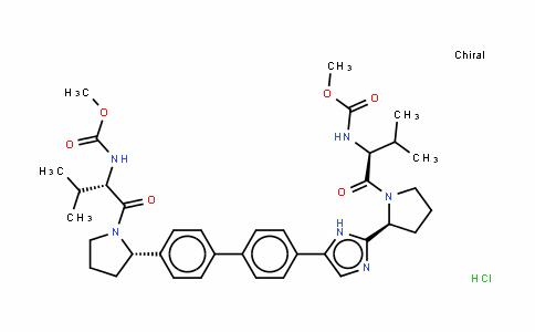 N,N'-[[1,1'-联苯]-4,4'-二基双[1H-咪唑-5,2-二基-(2S)-2,1-吡咯烷二基[(1S)-1-(1-甲基乙基)-2-氧代-2,1-乙烷二基]]]二氨基甲酸二甲酯二盐酸盐
