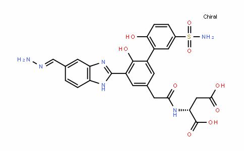 D-Aspartic acid, N-[[5-[5-(aMinoiMinoMethyl)-1H-benziMiDazol-2-yl]-5'-(aMinosulfonyl)-2',6-DihyDroxy[1,1'-biphenyl]-3-yl]acetyl]- (9CI)