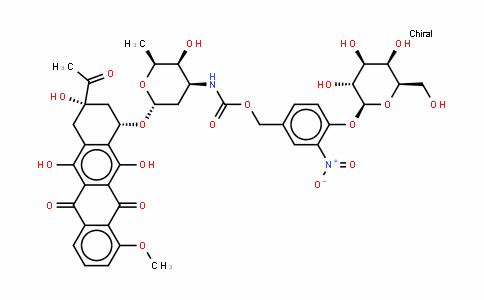 (8S,10S)-8-乙酰基-7,8,9,10-四氢-6,8,11-三羟基-1-甲氧基-10-[[2,3,6-三脱氧-3-[[[[4-(BETA-D-吡喃半乳糖基氧基)-3-硝基苯基]甲氧基]羰基]氨基]-ALPHA-L-来苏-己糖吡喃糖苷]氧基]-5,12-并四苯醌