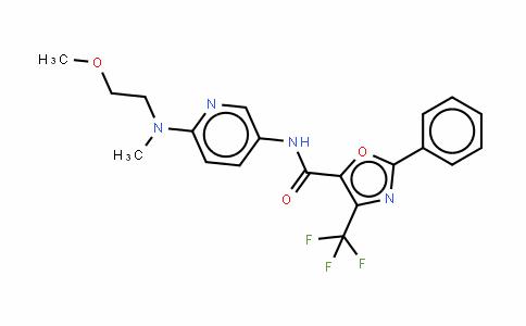 N-[6-[(2-甲氧基乙基)甲氨基]-3-吡啶基]-2-苯基-4-(三氟甲基)-5-噁唑羧胺