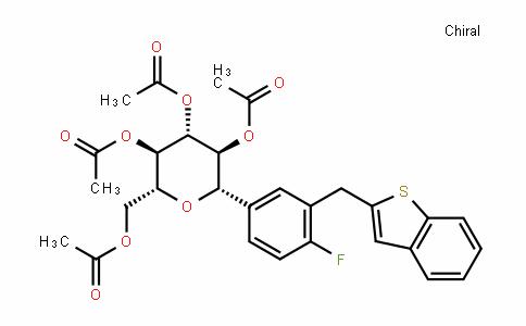 (1S)-1,5-脱水-1-C-[3-(苯并[B]噻吩-2-基甲基)-4-氟苯基]-D-山梨糖醇 2,3,4,6-四乙酸酯
