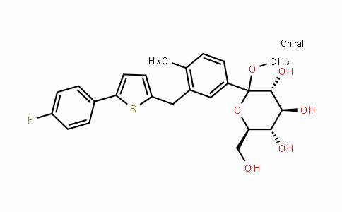 甲基 1-C-[3-[[5-(4-氟苯基)-2-噻吩基]甲基]-4-甲基苯基]-D-吡喃葡萄糖苷(卡格列净中间体)