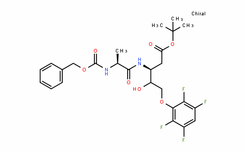 D-glycero-Pentonic acid, 2,3-DiDeoxy-3-[[(2S)-1-oxo-2-[[(phenylmethoxy)carbonyl]amino]propyl]amino]-5-O-(2,3,5,6-tetrafluorophenyl)-, 1,1-Dimethylethyl ester, (4ξ)- (9CI)