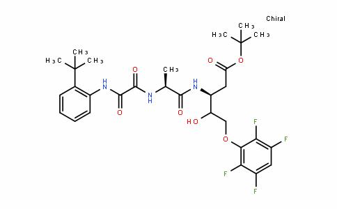 D-glycero-Pentonic acid, 2,3-DiDeoxy-3-[[N-[2-(1,1-Dimethylethyl)phenyl]-2-oxoglycyl-L-alanyl]amino]-5-O-(2,3,5,6-tetrafluorophenyl)-, 1,1-Dimethylethyl ester, (4ξ)- (9CI)