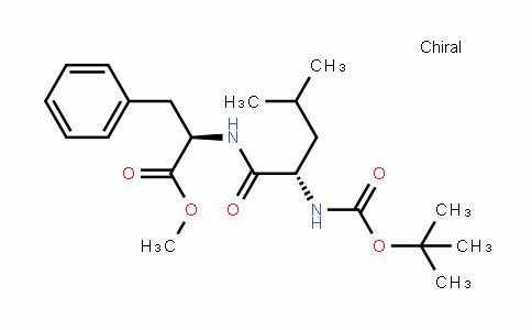 D-Phenylalanine, N-[(1,1-diMethylethoxy)carbonyl]-L-leucyl-, Methyl ester