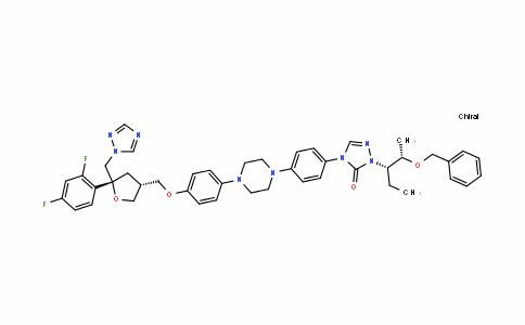 D-threo-Pentitol, 2,5-anhydro-1,3,4-trideoxy-2-C-(2,4-difluorophenyl)-4-[[4-[4-[4-[1-[(1S,2S)-1-ethyl-2-(phenylMethoxy)propyl]-1,5-dihydro-5-oxo-4H-1,2,4-triazol-4-yl]phenyl]-1-piperazinyl]phenoxy]Methyl]-1-(1H-1,2,4-triazol-1-yl)-