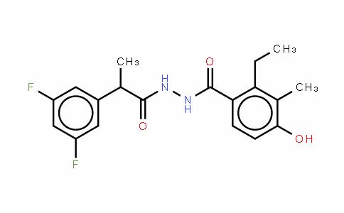 3,5-二氟-ALPHA-羟基-苯乙酸 2-(2-乙基-4-羟基-3-甲基苯甲酰)酰肼
