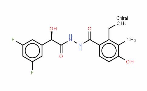 (ALPHAR)-3,5-二氟-ALPHA-羟基苯乙酸 2-(2-乙基-4-羟基-3-甲基苯甲酰基)肼
