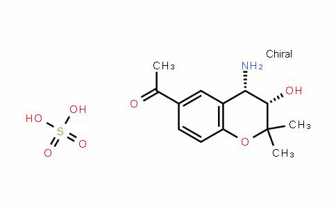 Ethanone, 1-[(3S,4S)-4-amino-3,4-dihydro-3-hydroxy-2,2-dimethyl-2H-1-benzopyran-6-yl]-, sulfate (1:1)