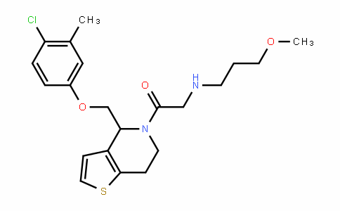 Ethanone, 1-[4-[(4-chloro-3-Methylphenoxy)Methyl]-6,7-dihydrothieno[3,2-c]pyridin-5(4H)-yl]-2-[(3-Methoxypropyl)aMino]-