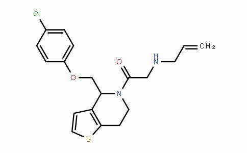 Ethanone, 1-[4-[(4-chlorophenoxy)Methyl]-6,7-dihydrothieno[3,2-c]pyridin-5(4H)-yl]-2-(2-propen-1-ylaMino)-