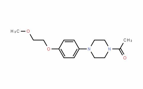 Ethanone, 1-[4-[4-(2-methoxyethoxy)phenyl]-1-piperazinyl]-