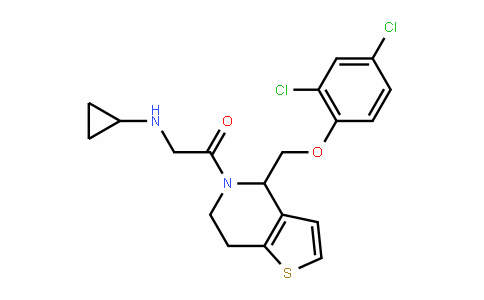 Ethanone, 2-(cyclopropylaMino)-1-[4-[(2,4-dichlorophenoxy)Methyl]-6,7-dihydrothieno[3,2-c]pyridin-5(4H)-yl]-