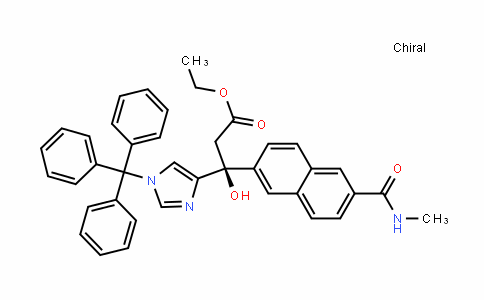 Ethyl (3S)-3-hydroxy-3-[6-[(methylamino)carbonyl]-2-naphthyl]-3-(1-trityl-1H-imidazol-4-yl)propanoate