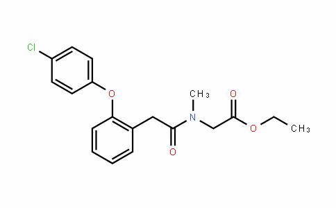 ethyl 2-(2-(2-(4-chlorophenoxy)phenyl)-N-methylacetamido)acetate