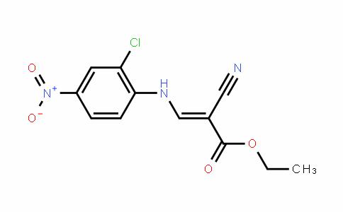 ethyl 3-(2-chloro-4-nitrophenylamino)-2-cyanoacrylate
