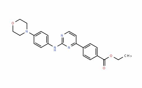 ethyl 4-(2-(4-morpholinophenylamino)pyrimidin-4-yl)benzoate