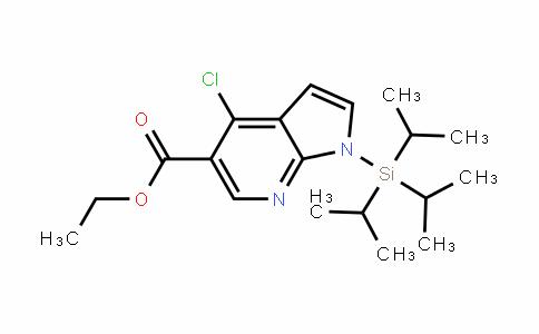 ethyl 4-chloro-1-(triisopropylsilyl)-1H-pyrrolo[2,3-b]pyridine-5-carboxylate