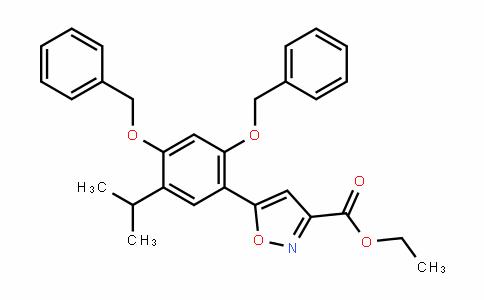 5-[2,4-二(苄氧基)-5-异丙基苯基]异恶唑-3-羧酸乙酯