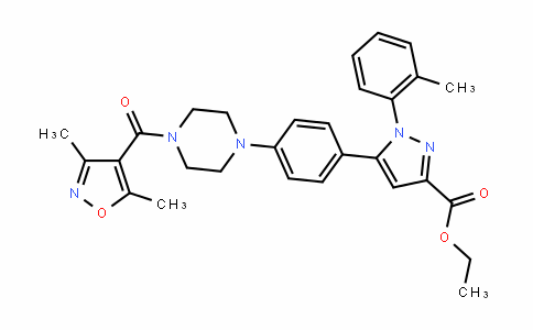 ethyl 5-(4-(4-(3,5-dimethylisoxazole-4-carbonyl)piperazin-1-yl)phenyl)-1-o-tolyl-1H-pyrazole-3-carboxylate