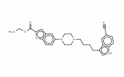 5-[4-[4-(5-氰基-1H-吲哚-3-基)丁基]-1-哌嗪基]-2-苯并呋喃羧酸乙酯