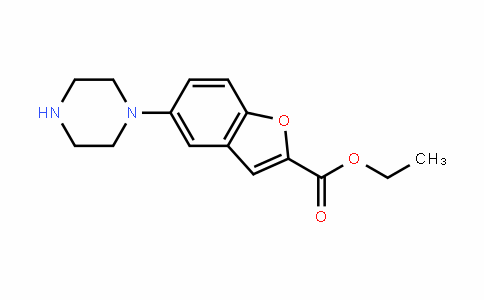 ethyl 5-(piperazin-1-yl)benzofuran-2-carboxylate