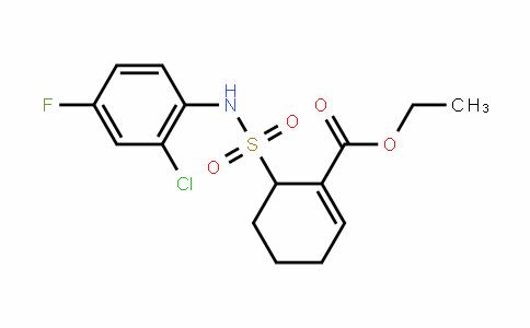 ethyl 6-(N-(2-chloro-4-fluorophenyl)sulfamoyl)cyclohex-1-enecarboxylate