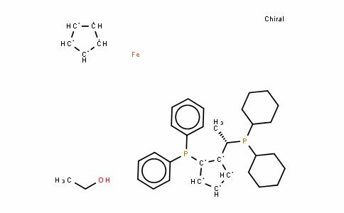 Ferrocene, 1-[(1S)-1-(dicyclohexylphosphino)ethyl]-2-(diphenylphosphino)-, (2S)-