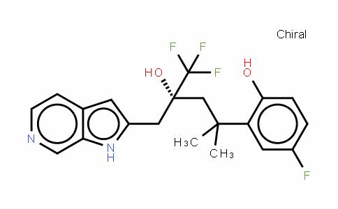 (Alphar)-alpha-[2-(5-氟-2-羟基苯基)-2-甲基丙基]-alpha-(三氟甲基)-1H-吡咯并[2,3-c]吡啶-2-乙醇