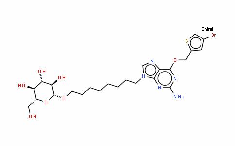 8-[2-氨基-6-[(4-溴-2-噻吩基)甲氧基]-9H-嘌呤-9-基]辛基 BETA-D-吡喃葡萄糖苷