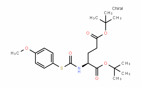 Glutamic acid, N-[[(4-methoxyphenyl)thio]carbonyl]-, bis(1,1-dimethylethyl) ester