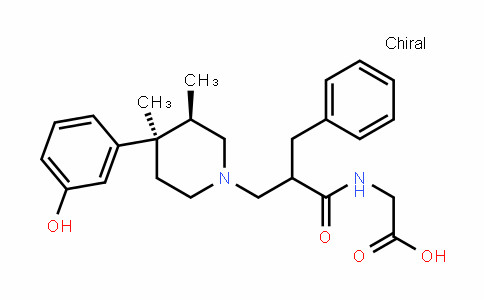 Glycine, N-[2-[[(3R,4R)-4-(3-hydroxyphenyl)-3,4-dimethyl-1-piperidinyl]methyl]-1-oxo-3-phenylpropyl]-, rel- (9CI)