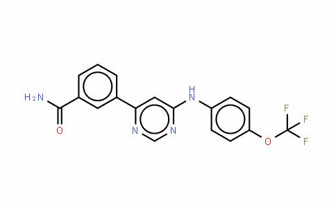 3-[6-[[4-(三氟甲氧基)苯基]氨基]-4-嘧啶基]苯甲酰胺