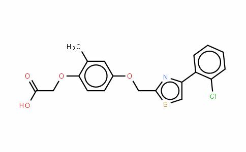 2-[4-[[4-(2-氯苯基)-2-噻唑基]甲氧基]-2-甲基苯氧基]乙酸