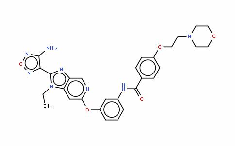 *N-[3-[[2-(4-氨基呋咱-3-基)-1-乙基-1H-咪唑并[4,5-C]吡啶-6-基]氧]苯基]-4-[[2-(4-吗啉基)乙基]氧]苯甲酰胺