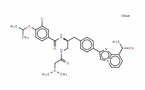 3-氯-N-{(1S)-2-[(N,N-二甲基甘氨酰)氨基]-1-[(4-{8-[(1S)-1-羟基乙基]咪唑并[1,2-a]吡啶-2-基}苯基)甲基]乙基}-4-[(1-甲基乙基)氧基]苯甲酰胺