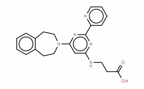 N-[2-(2-吡啶基)-6-(1,2,4,5-四氢-3H-3-苯并氮杂卓-3-基)-4-嘧啶基]-BETA-丙氨酸