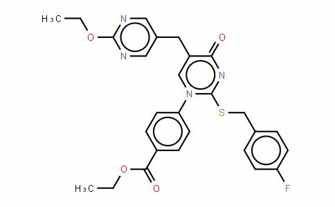 4-[5-[(2-乙氧基-5-嘧啶)甲基]-2-[[(4-氟苯基)甲基]硫代]-4-氧代-1(4H)-嘧啶]-苯甲酸乙酯