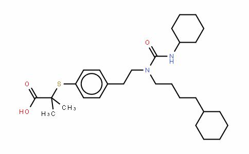2-[[4-[2-[[环己基氨基)羰基](4-环己基丁基)氨基]乙基]苯基]硫基]-2-甲基丙酸