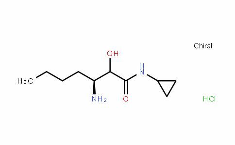 Heptanamide, 3-amino-N-cyclopropyl-2-hydroxy-, (Hydrochloride) (1:1), (3S)-
