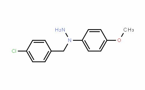 Hydrazine, 1-[(4-chlorophenyl)methyl]-1-(4-methoxyphenyl)-