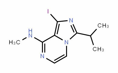 IMidazo[1,5-a]pyrazin-8-aMine, 1-iodo-N-Methyl-3-(1-Methylethyl)-