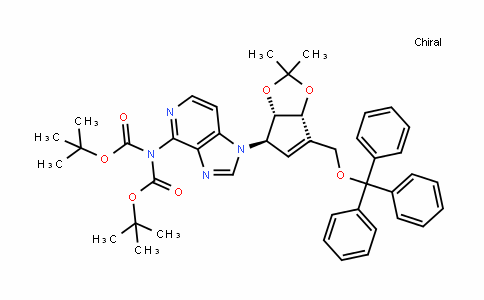 Imidodicarbonic acid, 2-[1-[(3aS,4R,6aR)-3a,6a-dihydro-2,2-dimethyl-6-[(triphenylmethoxy)methyl]-4H-cyclopenta-1,3-dioxol-4-yl]-1H-imidazo[4,5-c]pyridin-4-yl]-, 1,3-bis(1,1-dimethylethyl) ester