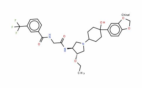 N-[2-[[(3S,4S)-1-[4-(1,3-苯并二氧杂环戊烷-5-基)-4-羟基环己基]-4-乙氧基-3-吡咯烷基]氨基]-2-氧代乙基]-3-(三氟甲基)苯甲酰胺