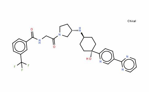 N-[2-[(3S)-3-[[4-羟基-4-[5-(嘧啶-2-基)吡啶-2-基]环己基]氨基]吡咯烷-1-基]-2-氧代乙基]-3-(三氟甲基)苯甲酰胺